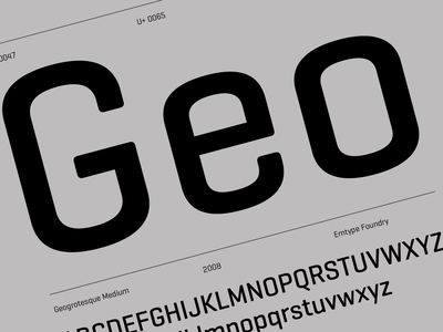 Geogrotesque — 2 of 3 branding logo free trials archive geometric design type typography emtype font