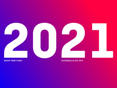 Happy New Year! design type typography font discount 2020 2021 happy new year happy new year 2021