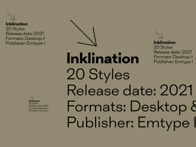 Inklination aftereffects animation free trials new font design type typography font