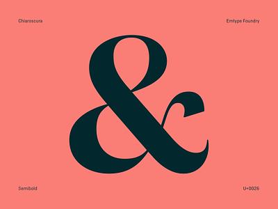 Chiaroscura pink ampersand free trials design type emtype typography font