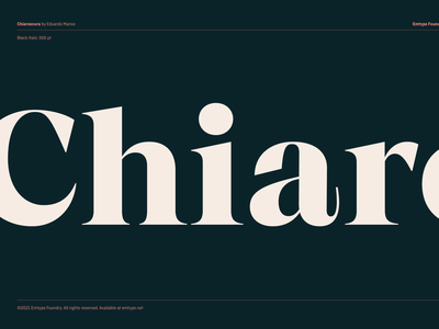 Chiaroscura chiaroscuro art fashion magazine branding logo free trials new font design type typography font chiaroscura chiaroscura