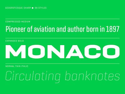 Geogrotesque Sharp variable fonts ui logo sans barcelona design type emtype typography font