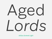 Aribau Grotesk Light