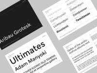 Aribau Grotesk PDF Specimen