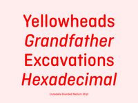 Cittadella Rounded font family
