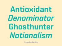 Shentox font family
