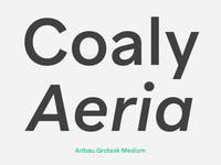 Aribau Grotesk Medium