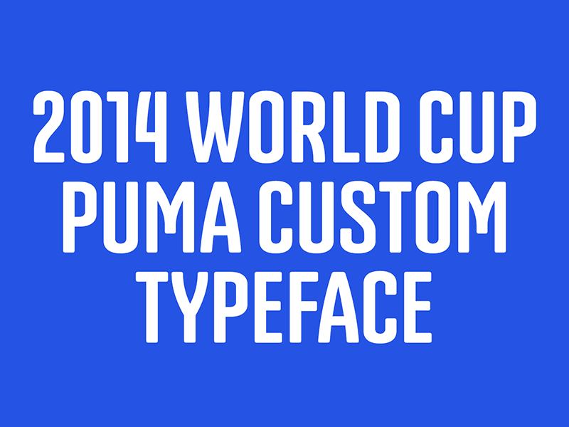 2014 World Cup – Puma custom typeface emtype project behance archive custom typeface puma world cup 2014