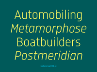 Isotonic font family