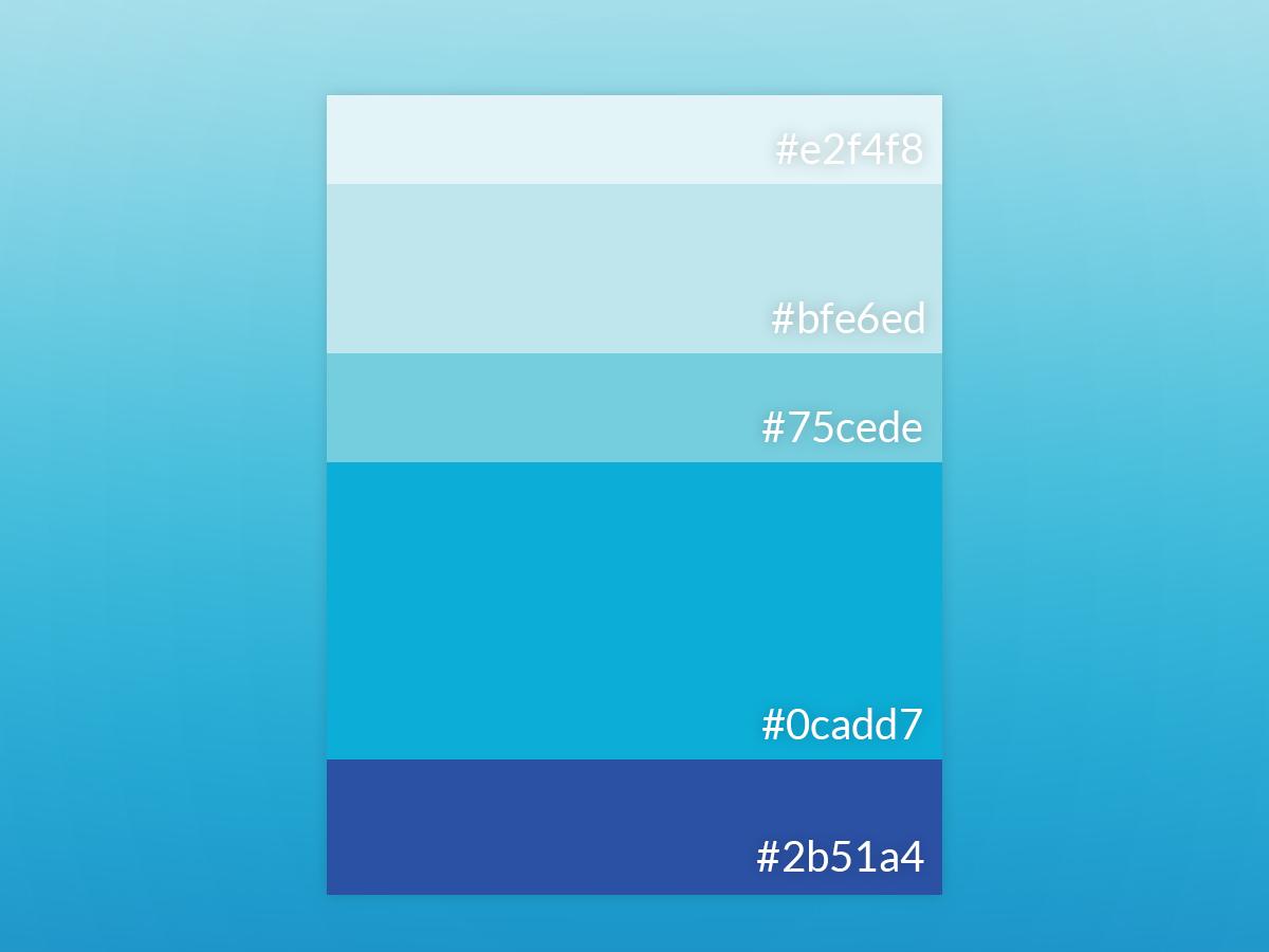 Blue 3 4 blue illustration color inspiration vector colourlovers