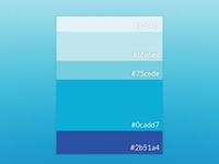 Blue 3 4