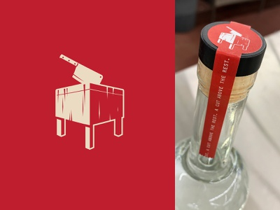 Butcher's Block Vodka fareway knife block butcher vodka