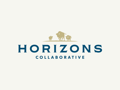 Horizons Collaborative identitiy consulting herd logo design bison logo