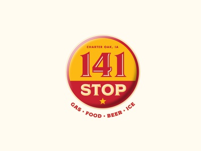 141 Stop convention retro vintage 141 circle logo convenience store