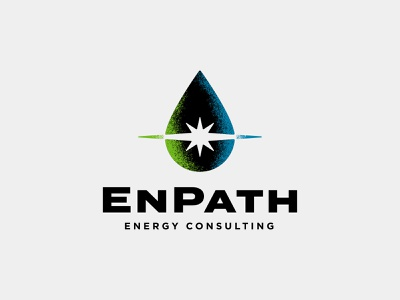 EnPath Logo icon logo design burst star drop energy gas oil identity logo