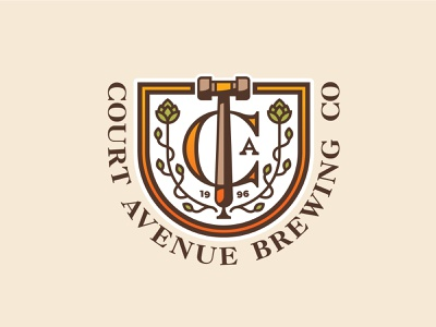 Court Avenue Brewing Co. Logo brewing beer logodesign logo designer logo identity logo mark