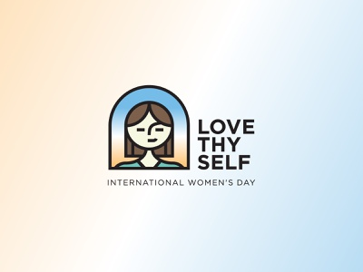Love thy self internationalwomensday woman logo vector womans day women woman