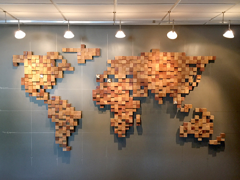 Wooden Globe Art by Nate Perry - Dribbble