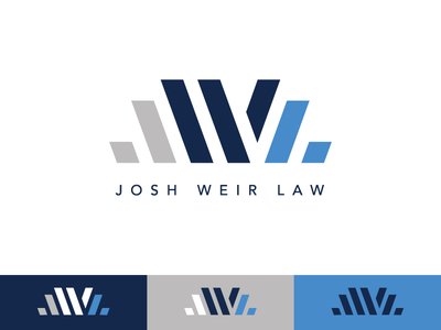 Josh Weir Law law firm l w j letterforms gray blue lawyer law