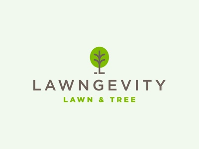 Lawngevity Lawn Logo trimming trees grass mow service lawncare mowing tree lawn