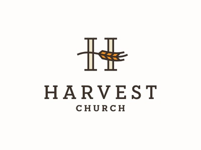 Harvest Church 2 serif grain h wheat harvest church