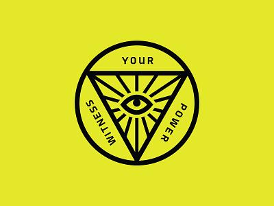 Witness Your Power bandana baseball texas illustration typography austin branding logo
