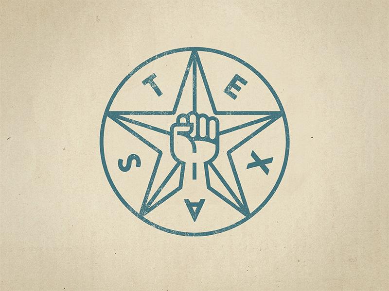 Texas Insurgency texas logo icon fist texas star