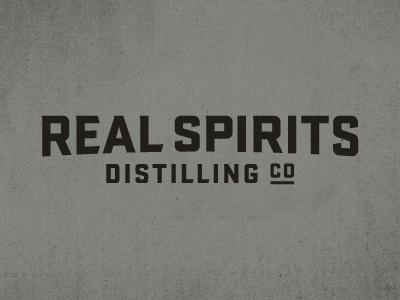 Real Spirits Distilling Co distilling texas spirits branding logo