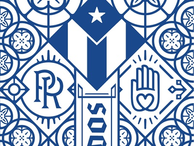 Work In Progress pattern illustration puerto rico
