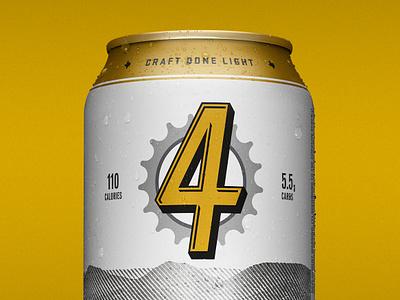 Firemans Light typography texas packaging beer austin