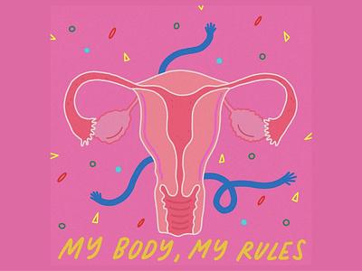 MY BODY, MY RULES illustrator procreate design illustration
