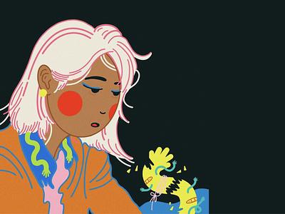 CAN'T TAME YOU alone existential procreate illustrator design illustration
