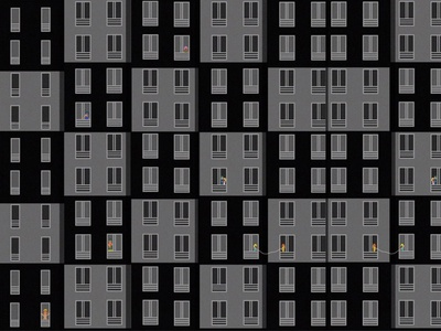 REAR WINDOW alone flat existential procreate illustrator design illustration