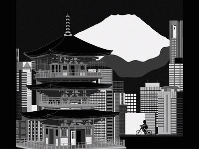 TOKYO tokyo flat design procreate illustrator illustration