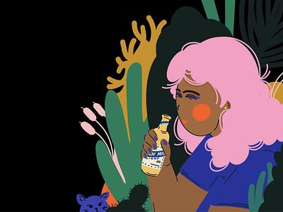 SAN MIG LIGHT NIGHTS alone manila existential procreate illustrator design illustration