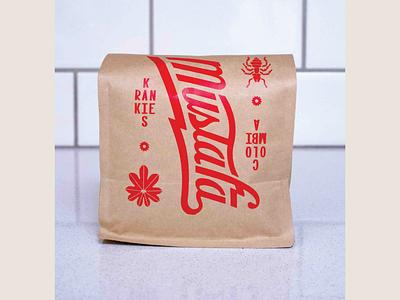 Coffee Packaging design packaging beans bag cafe shop roaster coffee lettering custom typography
