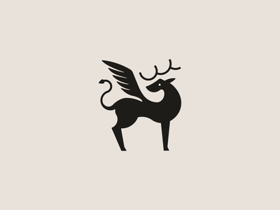 Mythical Creature wing identity beast creature mythical magical mark icon design logo branding