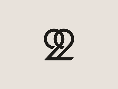 22 222 numerology number design logo lettering custom branding typography 22