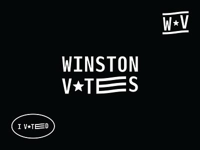 Winston Votes Brand winston-salem politics voting design logo custom lettering branding typography
