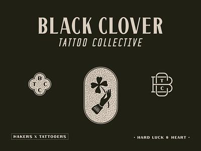 Tattoo Collective Branding luck clover black irish tattoo studio tattoo collective tattoo shop tattoo artist tattoo lettering custom branding typography