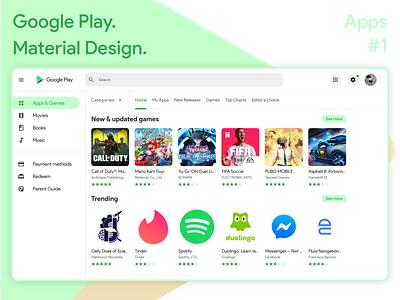 Google Playstore Material Design ( Exploring Apps ) adobexd material design design ux web ui