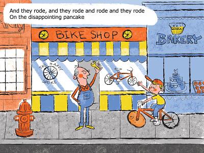 Bikeshop lisa loeb mibblio ipad illustration