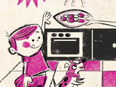 Cookies Web illustration retro