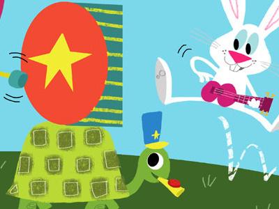Key of Fun illustration animals greeting card
