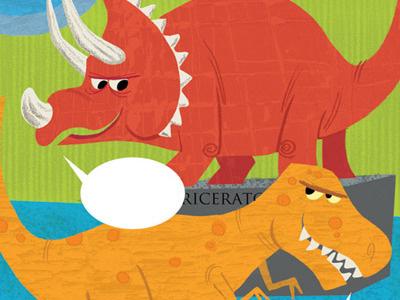 Dinosaur Museum illustration dinosaur greeting card