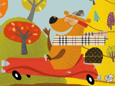Burberry Bear illustration bear autumn