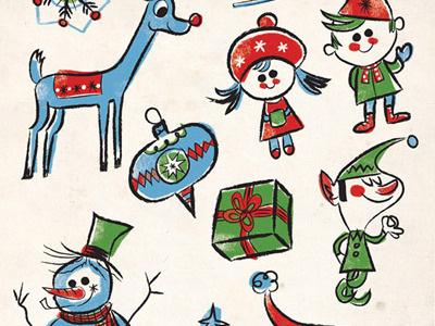 Scrapbook Page christmas illustration
