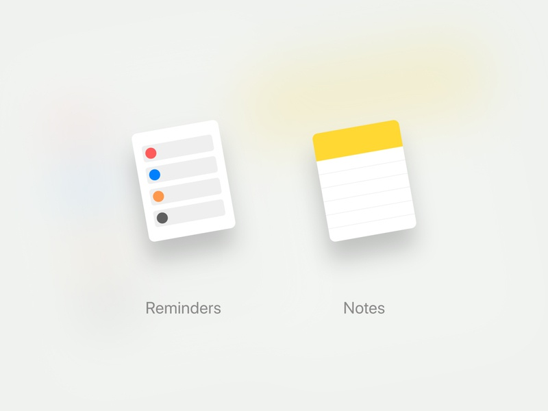 MacOS Icons product design macos icon app notes reminders