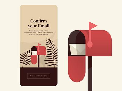 Email Confirmation ios app ui ui design illustration inbox mailbox confirmation email