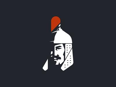 Mongolian Warrior mongol asian design minimal vector illustration flat 2d geometric hero branding logo khan warrior mongolian
